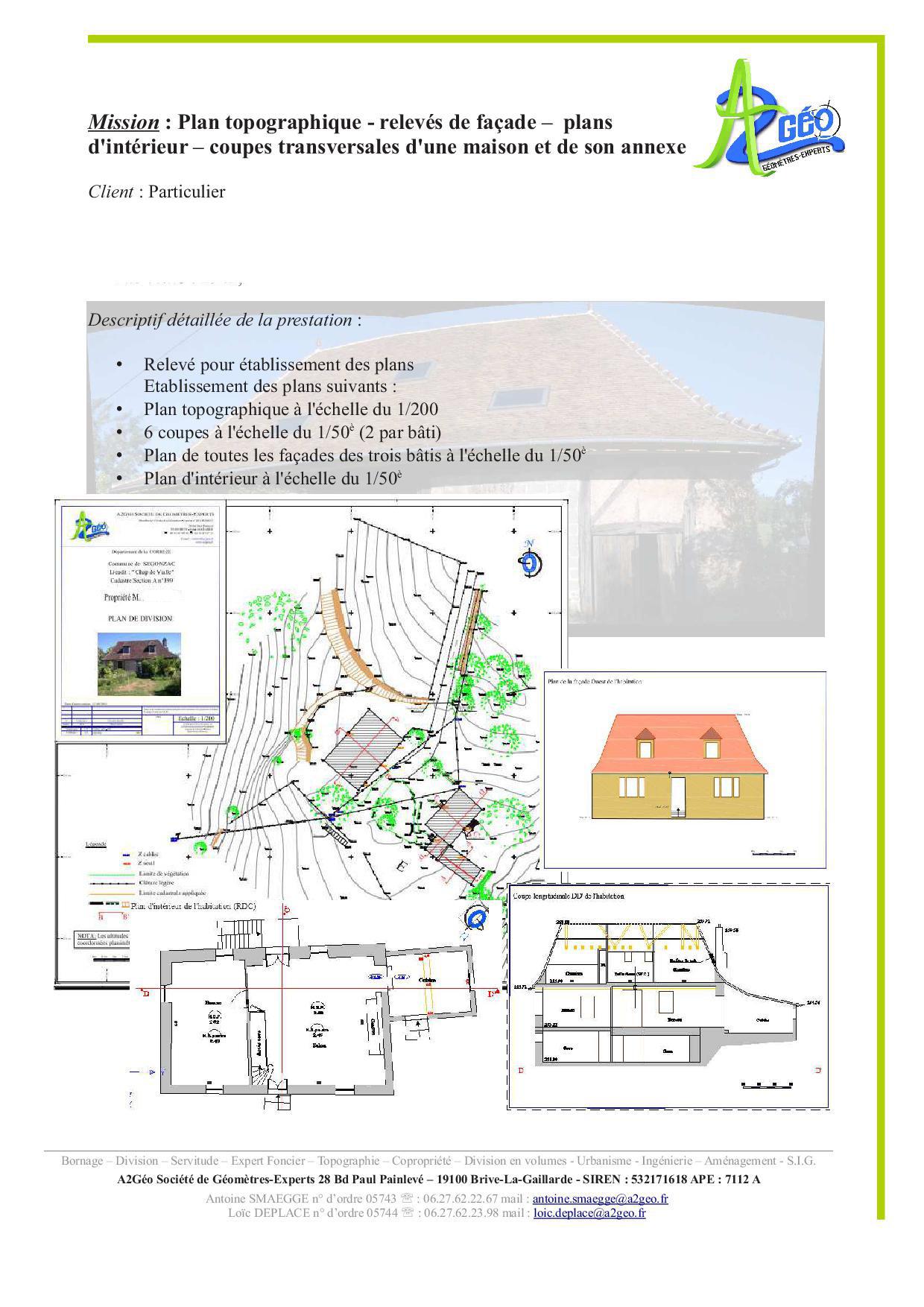 Services a2g o g om tre expert a2g o g om tre expert for Qu est ce qu un plan du site pour une maison